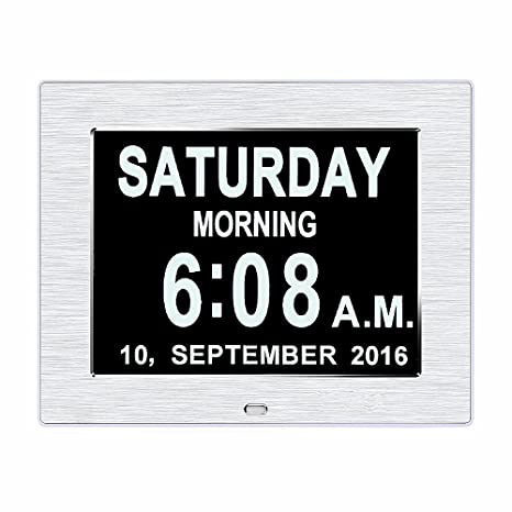 La pérdida de memoria original Digital Calendario DíA reloj con caracteres día y mes.
