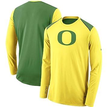 wholesale dealer e75a8 fa960 Amazon.com : Nike Oregon Ducks Dri-Fit Elite Long Sleeve ...