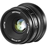 Neewer 25mm f/1.8 Large Aperture Wide Angle Lens Manual Focus APS-C Prime Fixed Lens Compatible with Canon EF-M EOS-M…