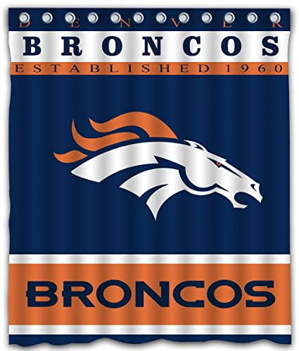Amazon Sonaby Custom Denver Broncos Waterproof Fabric Shower