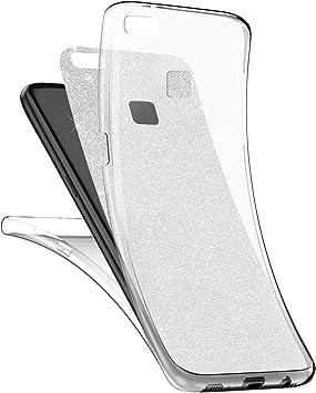 Surakey [Thin Fit 360 Funda Huawei P10 Lite Strass Brillo Bling Rhinestones Brillante Exact Slim de Protección Completa Y Protector de Pantalla para Huawei P10 Lite,Plata: Amazon.es: Electrónica