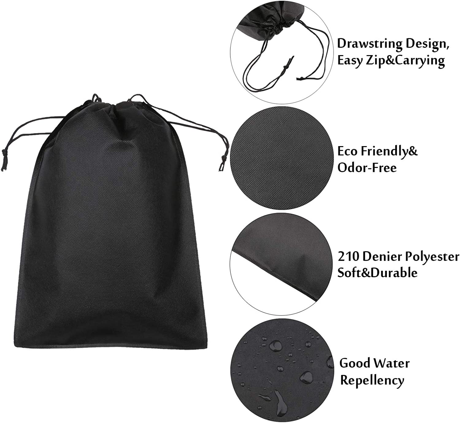 Protable Dust-Proof Shoes Bag Non-Woven Bundle Mouth Slippers Drawstring Bags US