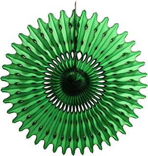 product image for 3-Pack 26 Inch Extra-Large Honeycomb Tissue Paper Party Fan Decoration (Dark Green)