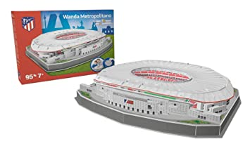 Kick Off 34007 - Puzzle Estadio Wanda Metropolitano 2019, Multicolor