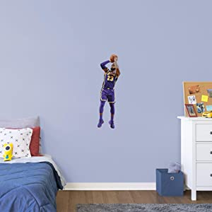 FATHEAD NBA Los Angeles Lakers Lebron James Lebron Shooting- Officially Licensed Removable Wall Decal