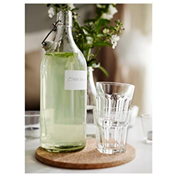 IKEA – botella con tapón KORKEN, cristal transparente (X2)