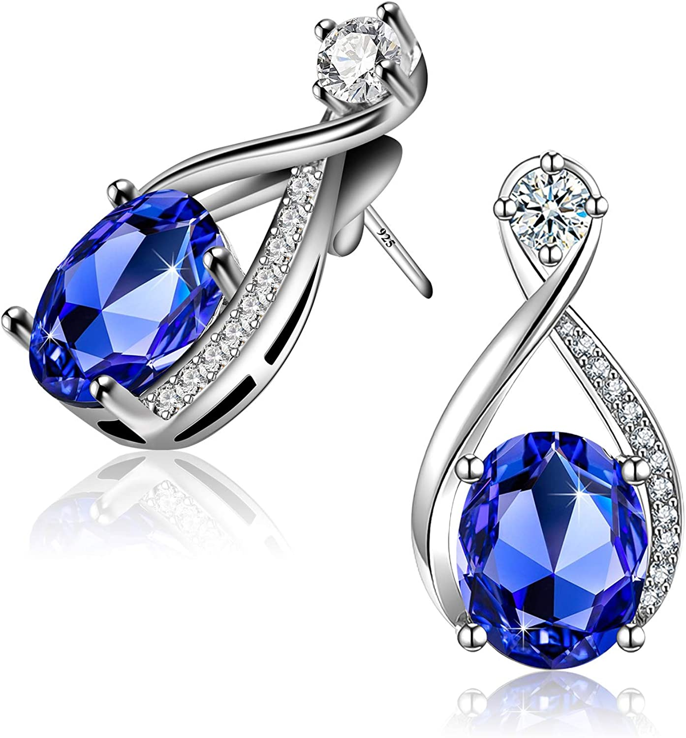 18K White Gold Plated Snowflake Leverback Earrings with Cubic Zirconia for Women Girls CZ Jewelry Fashion Drop Earrings