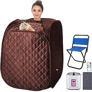 pardise Portable Steam Sauna Towel for Folding Personal Home Sauna Spa Tent