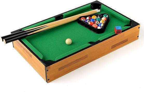 Mini Mesa de Billar 46 cm x 28 cm x 7,5 cm Mesa de madera