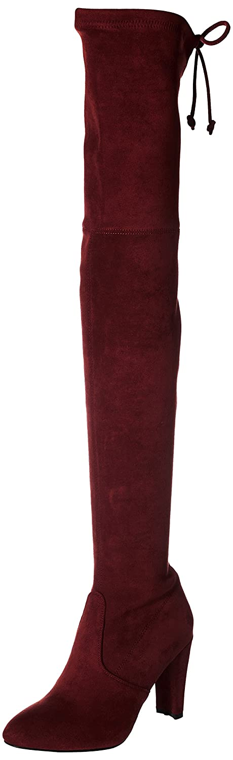 Kaitlyn Pan Microsuede High Heel Over The Knee Thigh High Boots B01KMNDK7Y 5.5US/ 35.5EU/ 35CN|Burgundy Red
