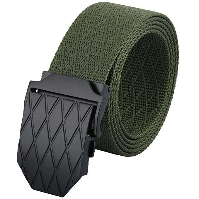 Amazon.com: moonsix Cinturones de nailon para hombres ...
