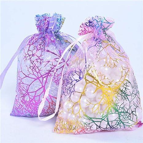 Details about  /25pcs 12x9cm Coralline Organza Jewelry Pouch Wedding Party Favor Gift BJ Fy