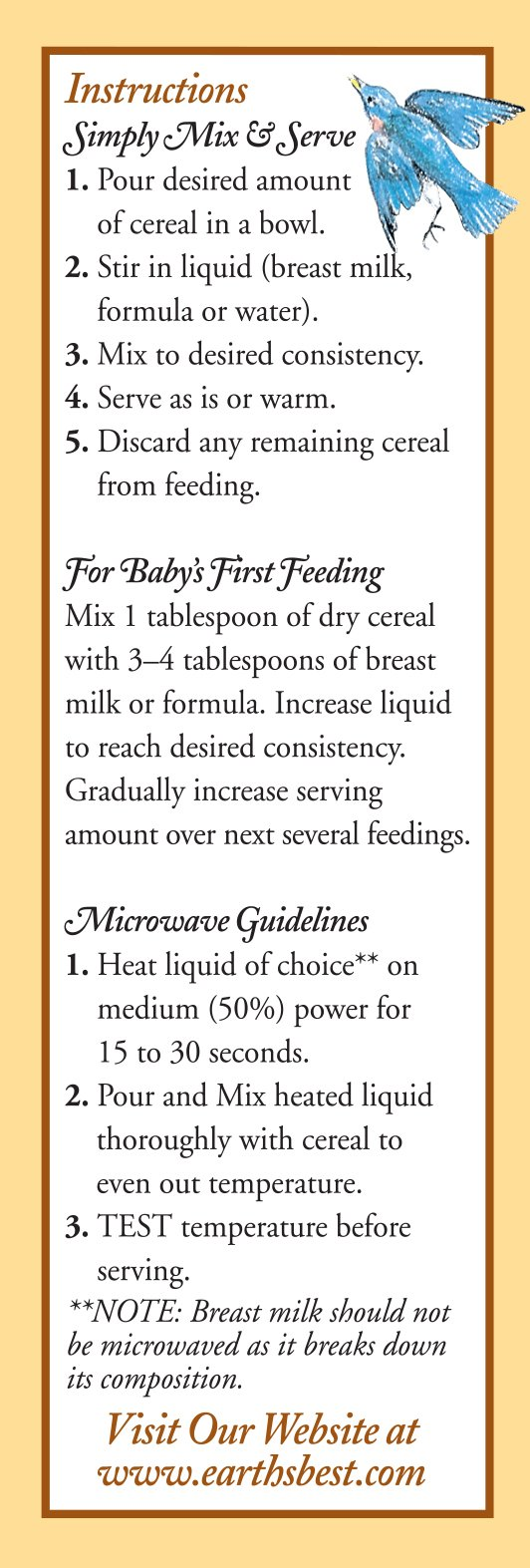 Earth's Best Organic Infant Cereal, Whole Grain Oatmeal with Bananas, 8 Oz - Packaging May Vary by Earth's Best (Image #3)