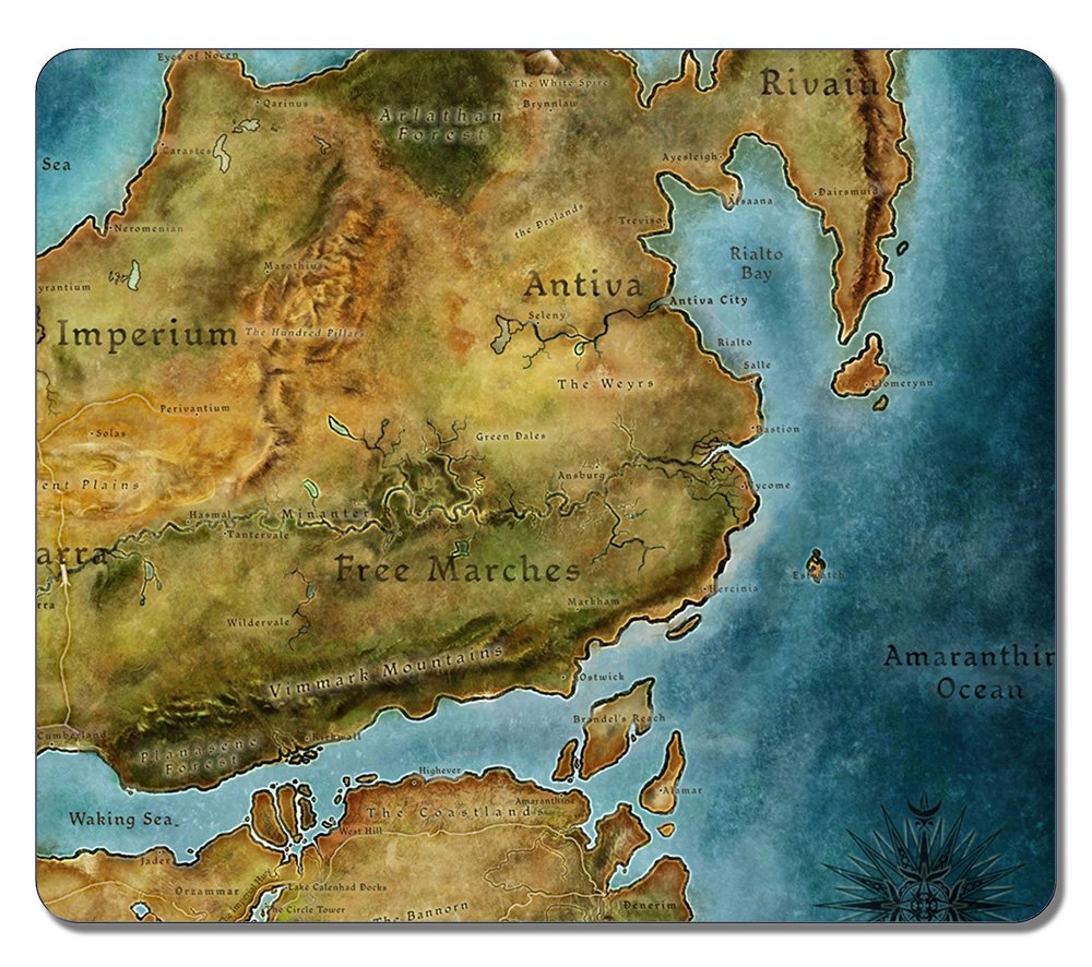 SUN VIGOR High Quality Large Dragon Age 2 Map 1024 Natural ...
