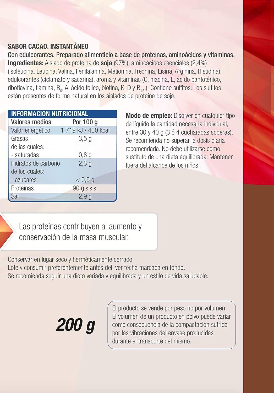 Protein 90 de Santiveri para deportistas (Cacao) Bote de 200 gr ...