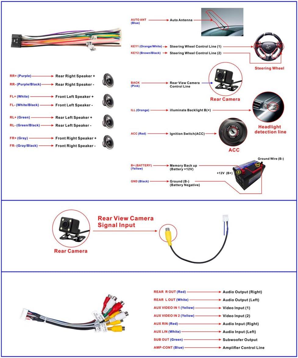 Doble DIN Radio de Coche Pantalla t/áctil de 9 Pulgadas Reproductor est/éreo Bluetooth Radio FM Tel/éfono m/óvil Espejo Enlace USB 2DIN Reproductor de Video para autom/óvil