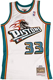Mitchell & Ness Detroit Pistons Grant Hill 1998 Throwback Swingman Jersey White