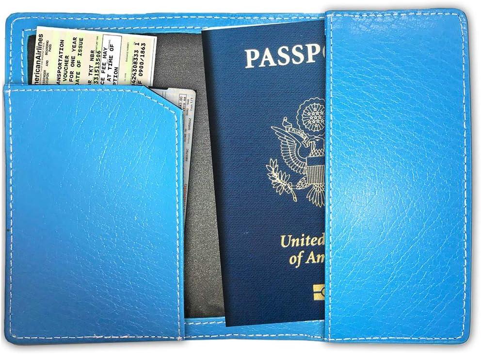Blue Leather Monogram Online Passport Cover