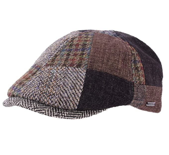 7bf51f1f7d7 Stetson - Flat Cap Men hiko Patchwork - Size XXL: Amazon.co.uk: Clothing