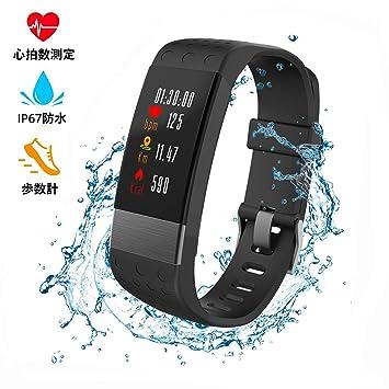 0f63af5fe6 YUFUY スマートブレスレット 血圧計 心拍計 スマートウォッチ 多機能スポーツウォッチ 活動量計