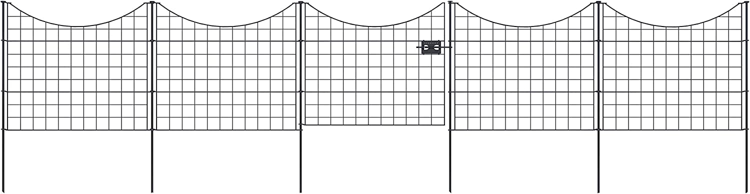 Zippity Outdoor Products WF29013 Metal Garden Fence and Gate Bundle, Black