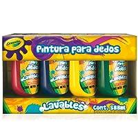 Crayola 5500050004 Pintura para Dedos, Paquete de 4