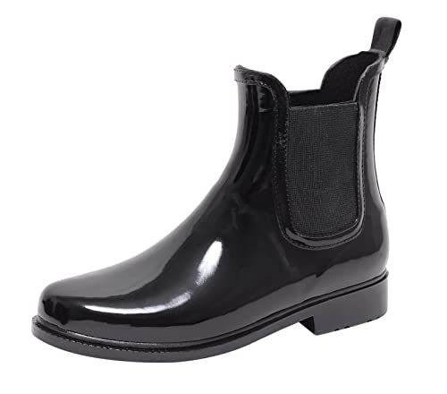 reputable site 77f8a d5c2f ZAPATO EUROPE Chelsea Boots Damen Regenstiefel Regenstiefelette  Gummistiefel Gummistiefelette Stiefel Stiefelette Jelly Boot Halbstiefel  Wellingtons ...