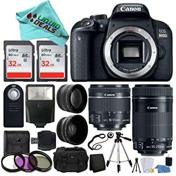 Amazon.com: Canon EOS Rebel T7i / 800d Cámara réflex digital ...