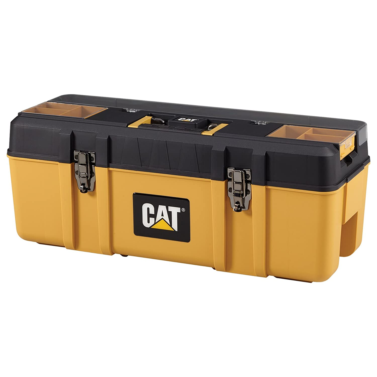 1. Cat Premium Plastic Portable Toolbox with Lid Organization and Removable Tote, 26