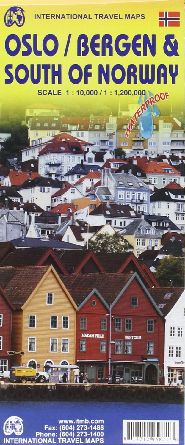 Oslo Bergen South Of Norway Travel Reference Map ITMB - Norway map amazon