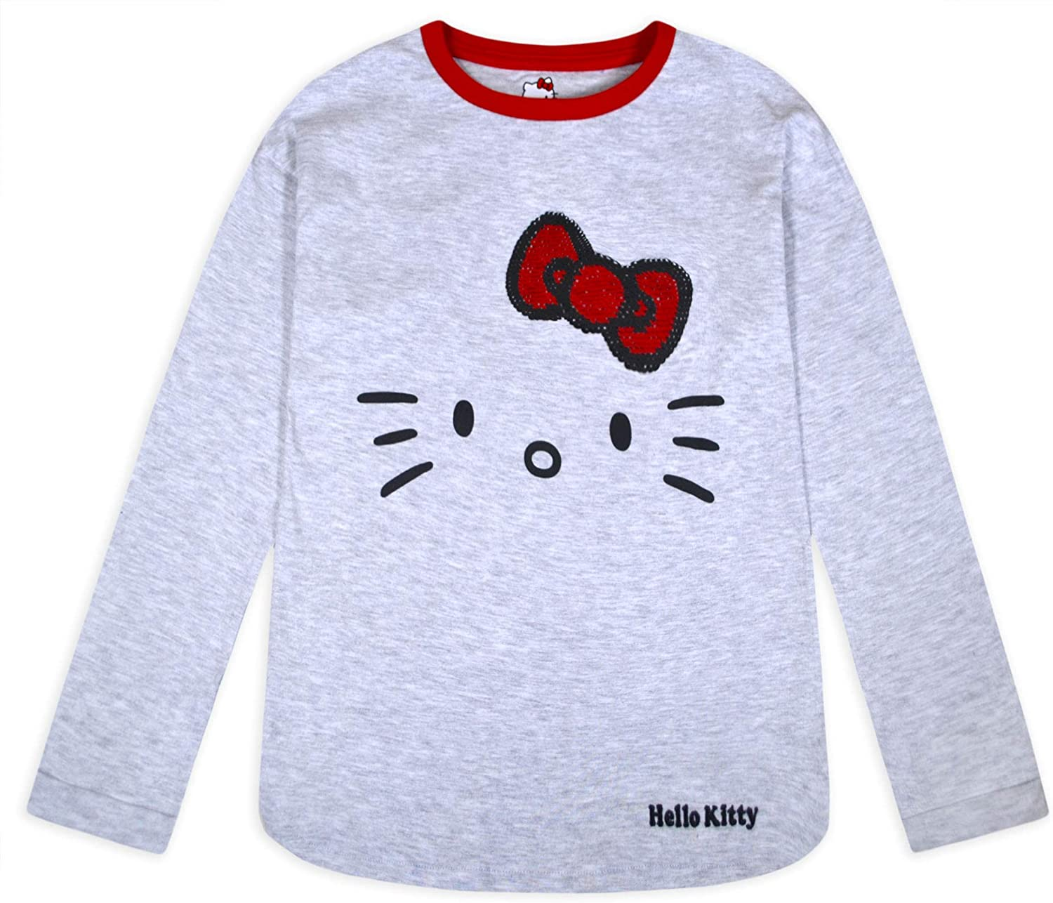 jolly rascals Girls Hello Kitty Long Sleeve in Top Cotton Polyester with Crew Neck Long Sleeves