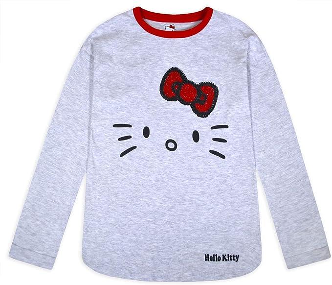 Jolly Rascals - Camiseta de Manga Larga con Lentejuelas para niñas, diseño de Hello Kitty, para niños de 3 4 5 6 7 8 9 10 11 12 13 14 años: Amazon.es: Ropa y accesorios