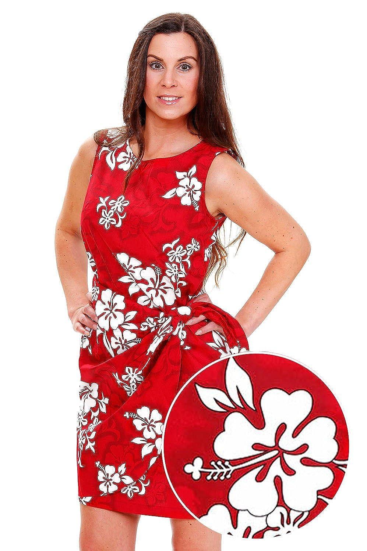 Pacific Legend | Original Hawaiikleid | Damen | S - XXL | Sommer | Hawaii-Print | Blumen | Rot