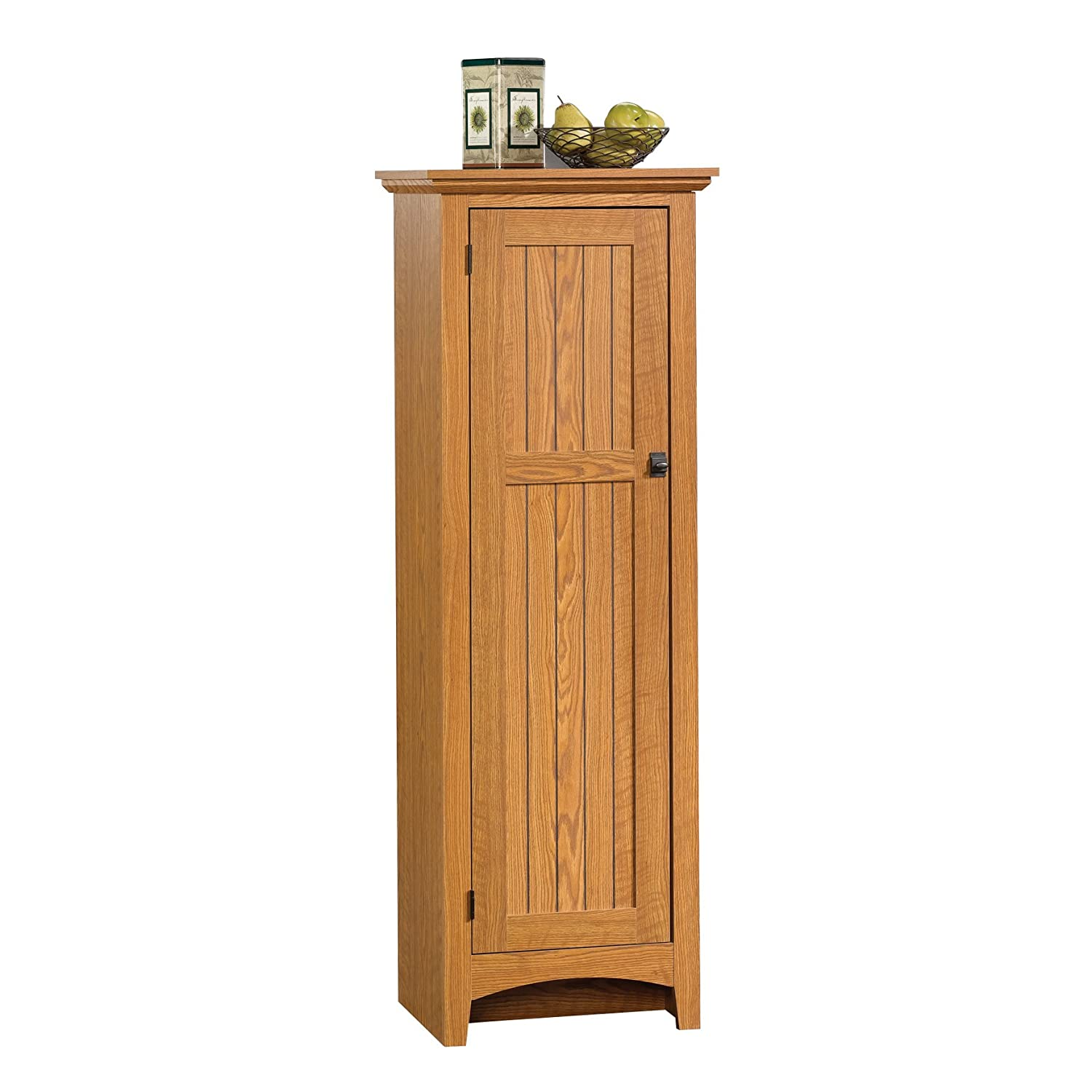 Sauder Summer Home Pantry, Carolina Oak Finish 401867