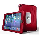 UZBL Ultra Slim Lightweight [AirWave Series] Case, 1-Piece Minimalist Silicone Design, Compatible with Apple iPad 9.7 inch 2017/2018 (5th/6th Gen) Red