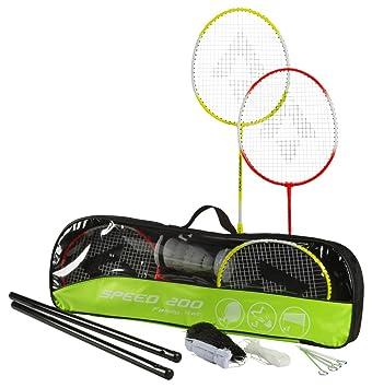 8d071cc8d93e0 TECNOPRO tecnotubi Opro Uni Kit de badminton vitesse 200 Beach, jaune, 3 1/