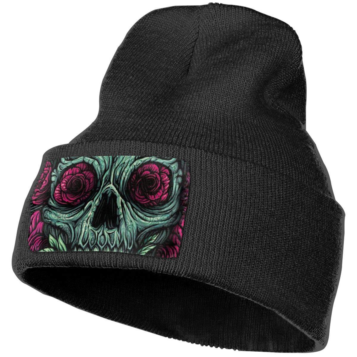 Horizon-t Zombie Skull Unisex 100/% Acrylic Knitting Hat Cap Fashion Beanie Hat