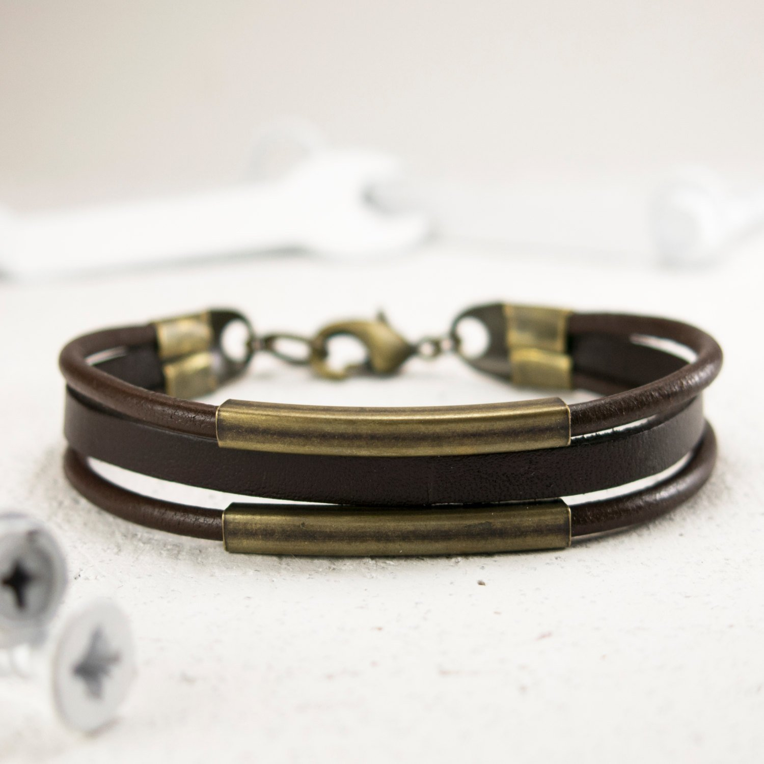 Men's Bracelet - Men's Leather Bracelet - Men's Cuff Bracelet - Men's Jewelry - Guys Jewelry - Guys Bracelet - Jewelry For Men - Bracelets For Men - Male Jewelry - Male Bracelet