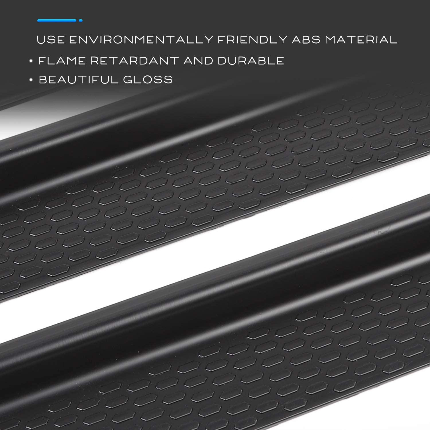 Exterior Accessories CheroCar Door Sill Guards Entry Scuff Plate Cover for 2018-2021 Jeep Wrangler JL JLU /& 2020-2021 Jeep Gladiator JT 4pcs//Set