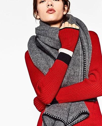 Sciarpa lunga elegante calda della signora sciarpa del cachemire delle sciarpe di colore solido di autunno ed inverno , gray