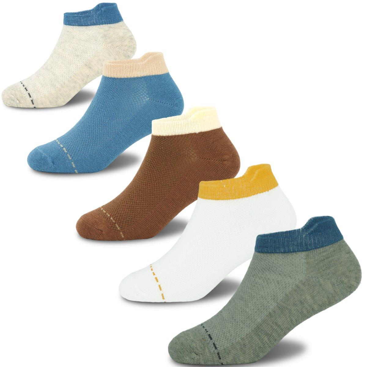 Boys Cotton Socks Kids Summer Breathable Short Socks 5 Pack 6-8 Years