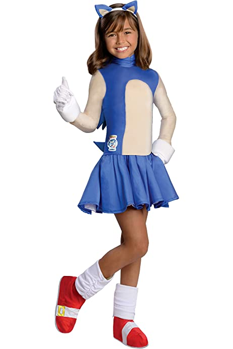 Amazon Com Sonic The Hedgehog Girls Sonic Costume Large Toys Games