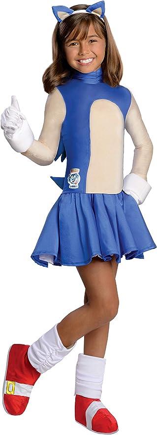 Amazon Com Sonic The Hedgehog Girls Sonic Costume Medium Toys Games