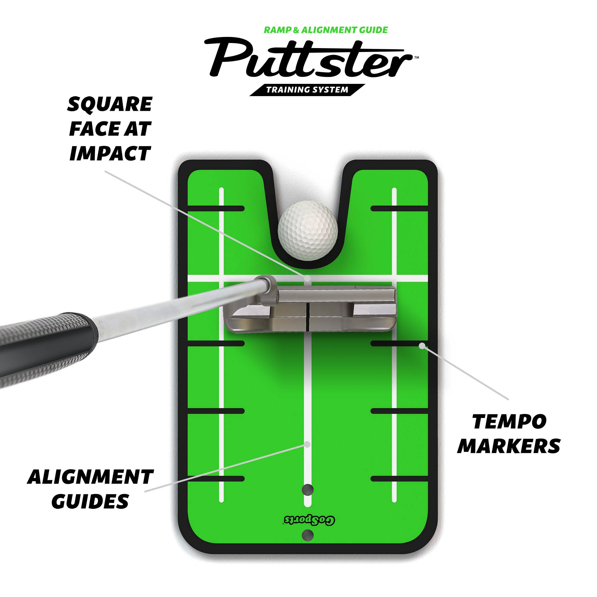 GoSports Puttster Golf Putting Training Aid - Alignment Guide with Cup Ramp Return System for Indoor or Outdoor Practice by GoSports (Image #2)