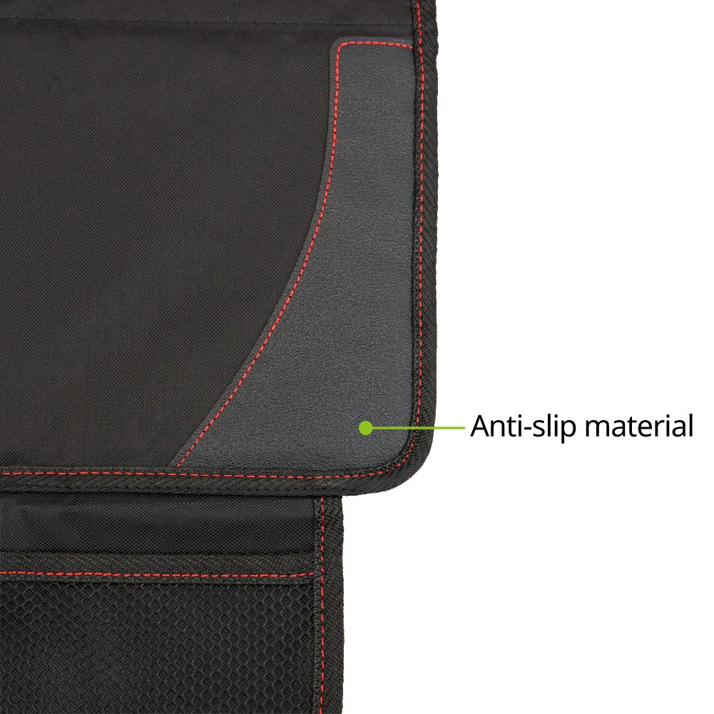 Autositz Schonbezug Sitzbezug Schutzunterlage Auflage mit Netztasche Schwarz EZOWare Sitzschoner