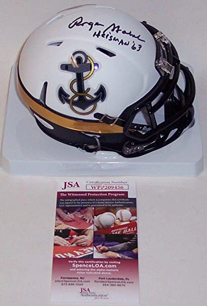 c3e0b920b43 Image Unavailable. Image not available for. Color: Roger Staubach  Autographed Hand Signed Navy ...
