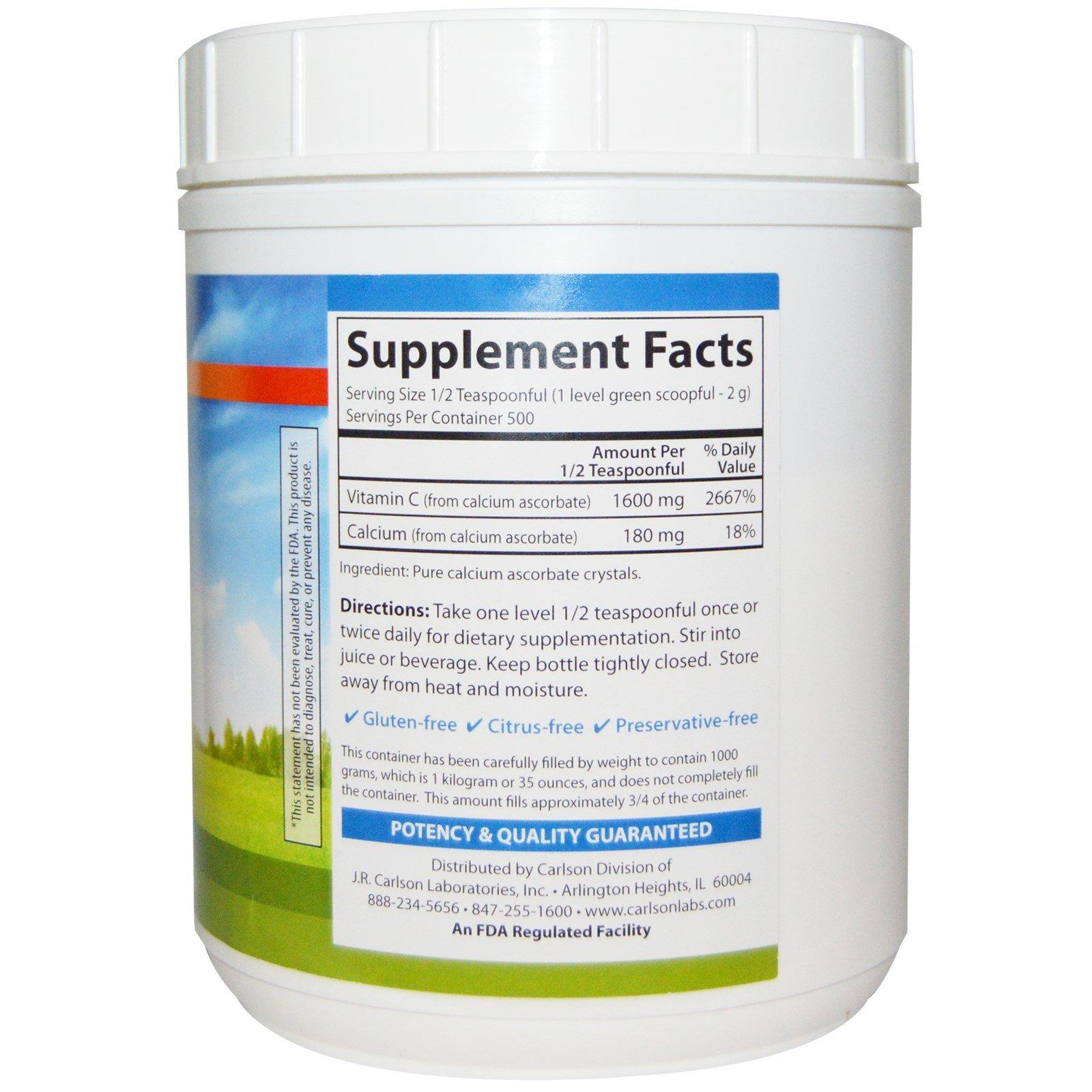 Carlson Labs Mild-C Vitamin C Crystals, 35 Ounces