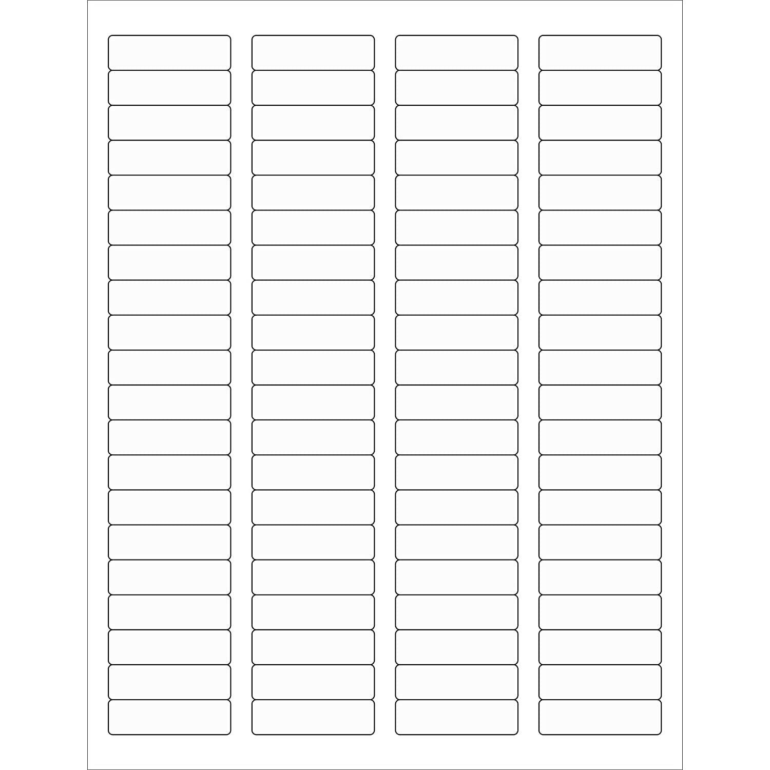 Tape Logic LL220CL Rectangle Laser Labels 1 3//4 x 1//2 Clear Pack of 8000