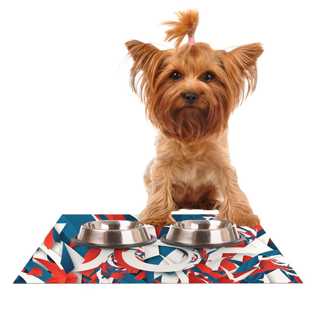 Kess InHouse Danny Ivan USA  World Cup Pet Bowl Placemat, 18 by 13-Inch