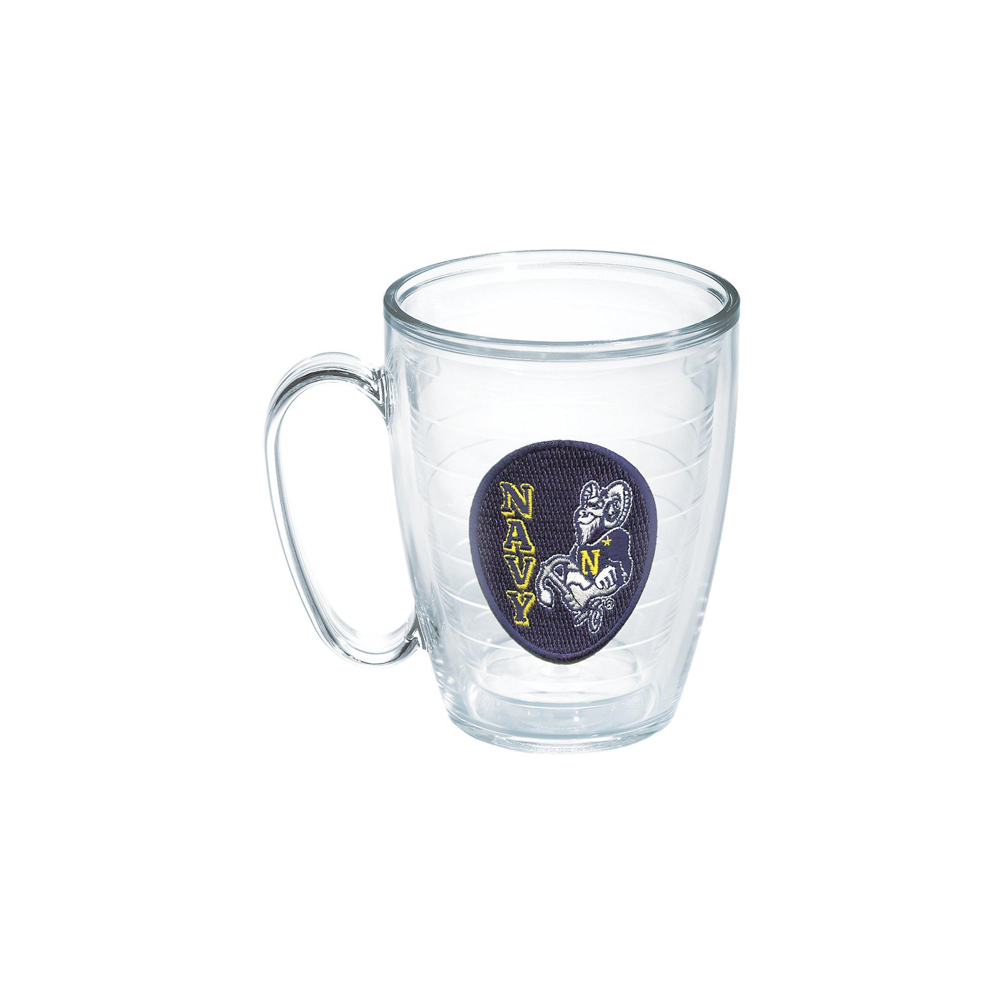 Tervis US Naval Academy Seal Emblem Individual Mug, 16 oz, Clear